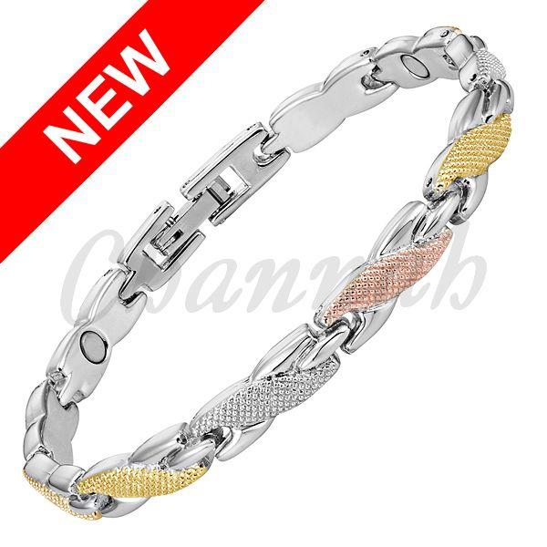 Find More Chain & Link Bracelets Information about 2016 Slim Women 3 Tone…