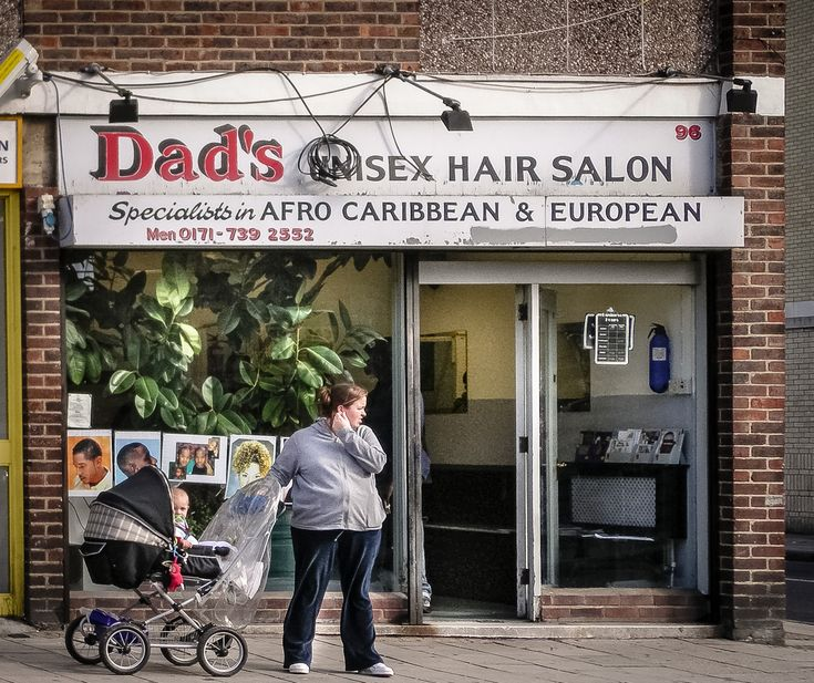 Dad's Unisex Hair Salon ghost sign in London