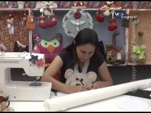 Diy Para hacer Avental Ourso - PROGRAMA CRIANDO IDEIAS - TV PARANÁ / ARAPONGAS - PR - BRASIL AVENTAL DE GALINHA