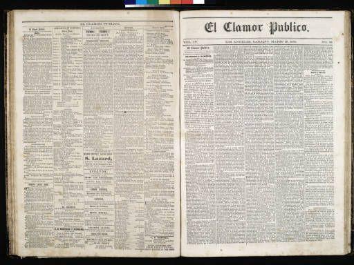 El Clamor Publico, vol. IV, no. 38, Marzo 19 de 1859 :: El Clamor Publico Collection, 1855-1859