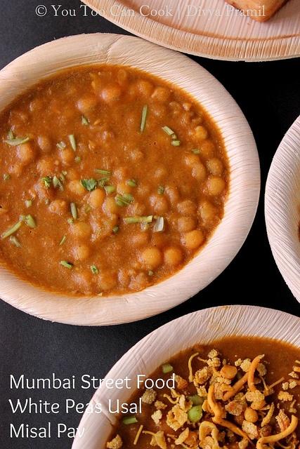 Misal Pav   Mumbai Street Food   White Peas Usal
