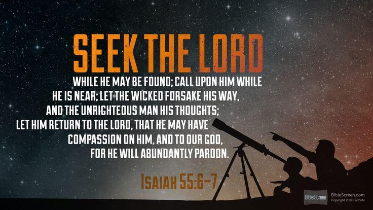 I'm reading Isaiah 55:6–7