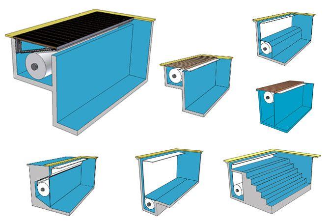 Les différents types de montage de volets immergés pour piscine