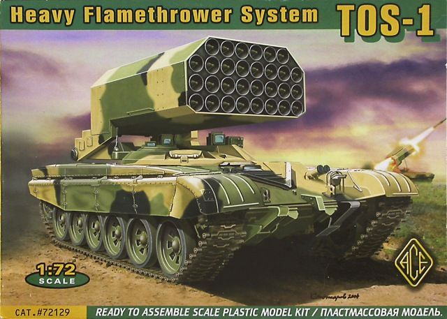 TOS-1 Buratino, Heavy Flamethrower System. Ace, 1/72, rebox 2005 (ex Ace 2004 No.72119, updated / new parts), No.72129. Price: Not Sold.