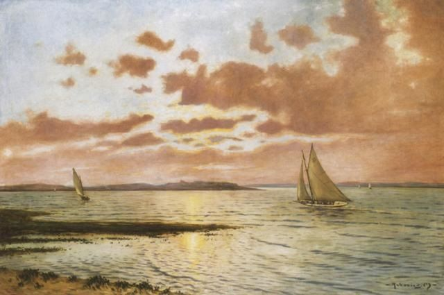 "A ""Kis Hamis"" nevü vitorlás a Balatonon (The shipper ""Kis Hamis"" on the lake Balaton) by Mark Rubovics"