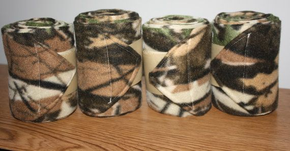 Mossy Oak Camouflage Polo Wraps (set of four) on Etsy, $15.95
