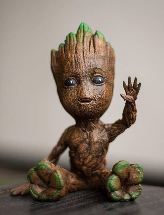 Best Selling Cute Waving Baby Groot Figure Avengers Infinity War