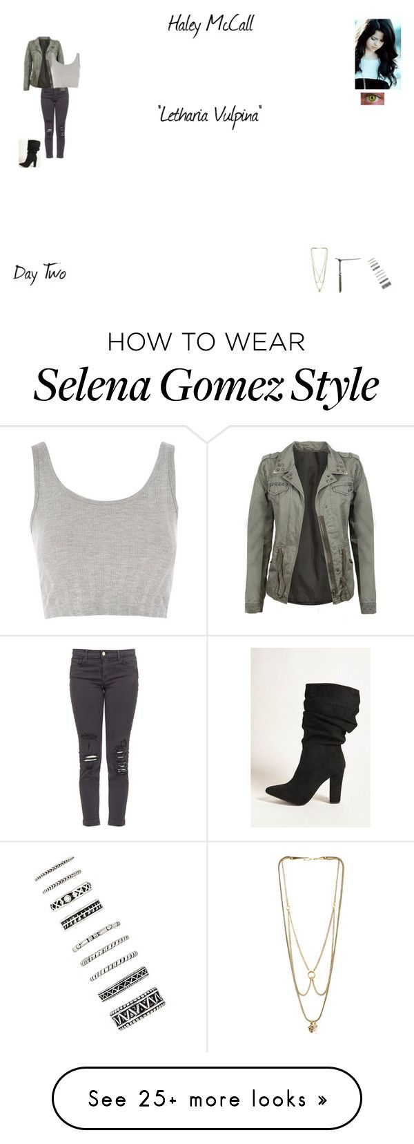 """""""Haley McCall (Worlds Colliding (Teen Wolf)) 3.19 """"Letharia Vulpina"""""""" by katherine97-1 on Polyvore featuring J Brand, Topshop, Forever 21 and MANIAMANIA"""