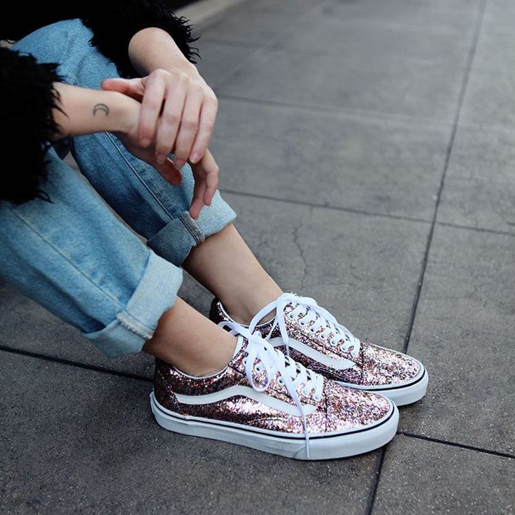 Rise and shine. Glitter Vans, now in.