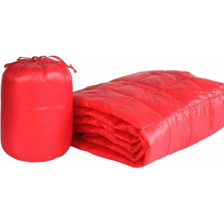 50 inch x 60 inch Puff Ultra Light Indoor/Outdoor Nylon Throw with Compact Travel Bag, Orange