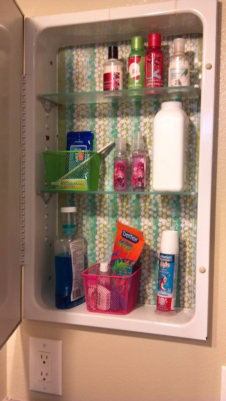 This Would Brighten Up A Dull Medicine Cabinet :) Scrapbook Paper And Mod  Podge.