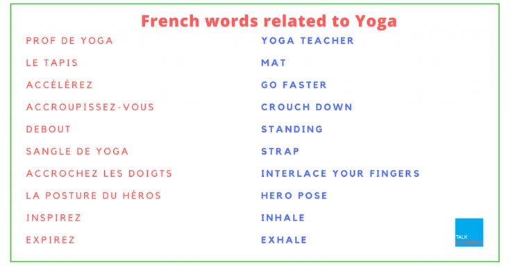 Need some French words and phrases related to yoga? Check out this article. It comes with a bonus list of French words for body parts, too.