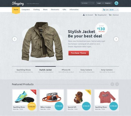Product page. Fashion ecommerce website.