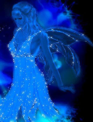 Blue glitter angel.gif