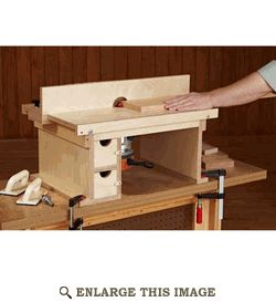 Benchtop Router Table - This could be made so that it is part of a bigger table that would allow the smaller router table to basically be an insert that could be removed and flipped over to create a flat workbench. Possibly make a top with router and some other tool that both conceal within the top....