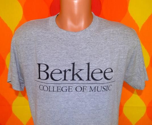 vintage BERKLEE college of music boston t-shirt 80s heather