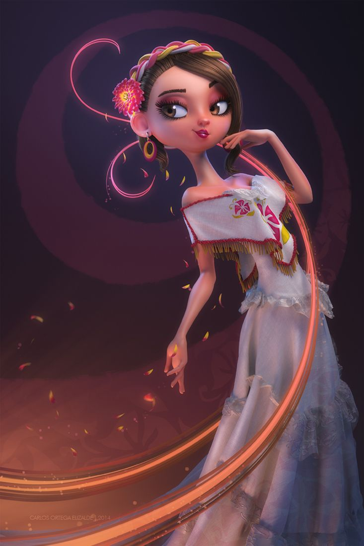 Serenata by Carlos Ortega Elizalde | Pinup | 3D | CGSociety § Find more artworks: www.pinterest.com/aalishev