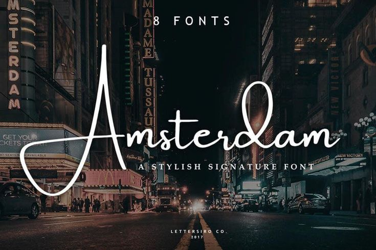 Add some serious style to your typeface toolbox with the Amsterdam Font Family! This elegant signature font features four fabulous typefaces, each offered in a regular and slanted variety, meaning you're getting 8 different fonts! From business cards to photo watermarks, this family is here to elevate your work to the highest level. Get the entire Amsterdam Font Family for only $9!
