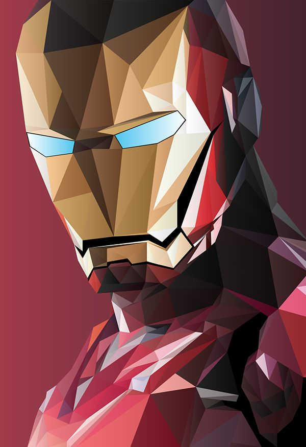 Iron Man Geometric Hero Superman Fondos De Pantalla