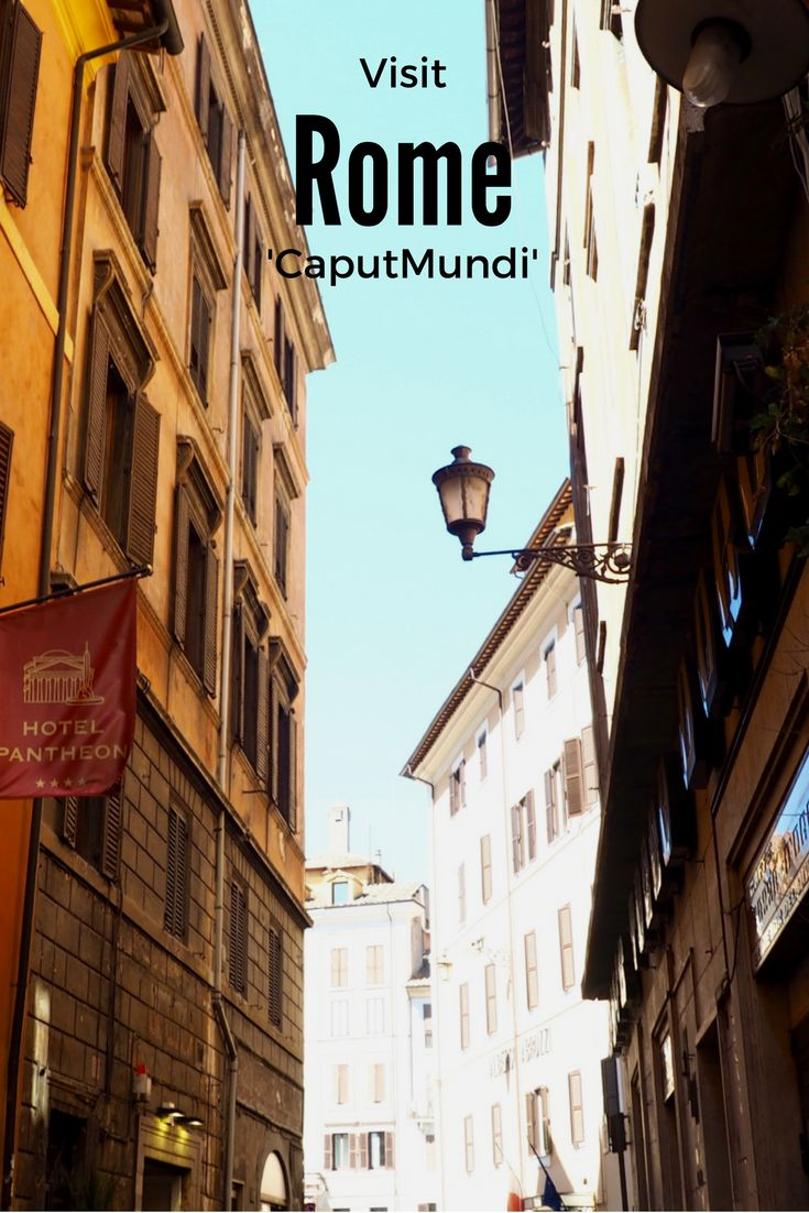 Reasons to visit Rome: peeling ochre buildings, pasta, pizza, more gorgeous ancient architecture....