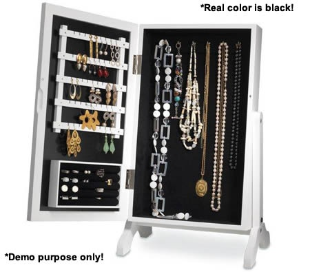 Dressing table size mirror jewellery cabinet with loads of hanging space.  $59.95