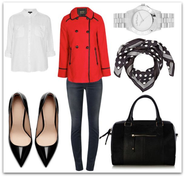 outfit 28.11 Love that Red Coat ! #zara #accessorize