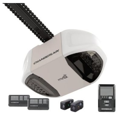6. Chamberlain Group PD762EV 3/4-HP Heavy-Duty Premium Chain Drive Garage Door Opener, Black