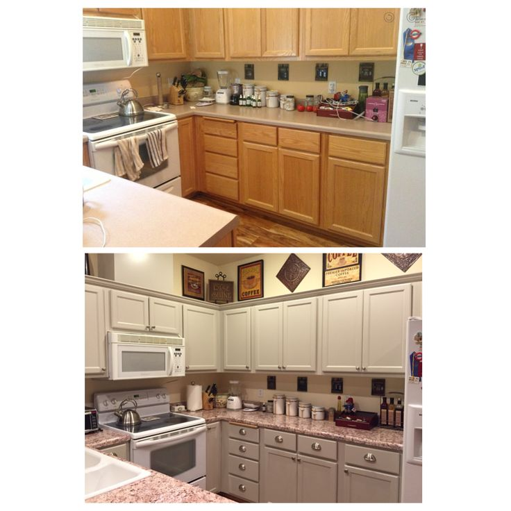 Hardware For Oak Kitchen Cabinets: Finally Finished My Kitchen Makeover!! Bye Bye Ugly Honey
