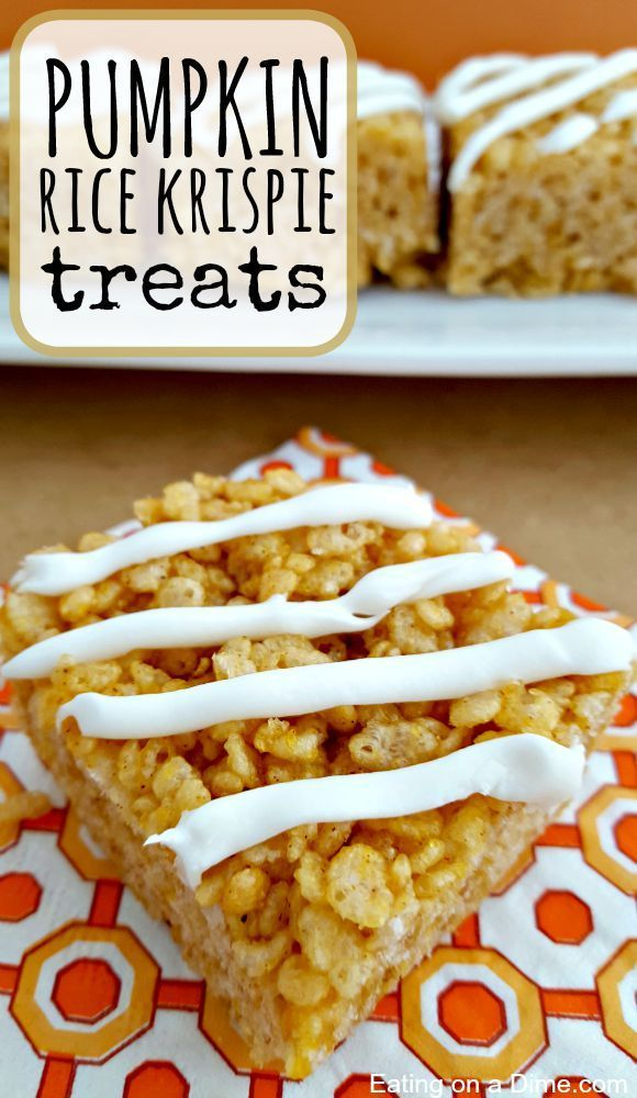 Try this easy to make pumpkin rice krispie treats. Your entire family will love this easy pumpkin recipe!