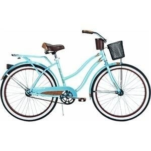 Yes I want a bike like this!: rear rack, chain guard, front basket, AND cup holder for my coffee....er...water bottle. :)