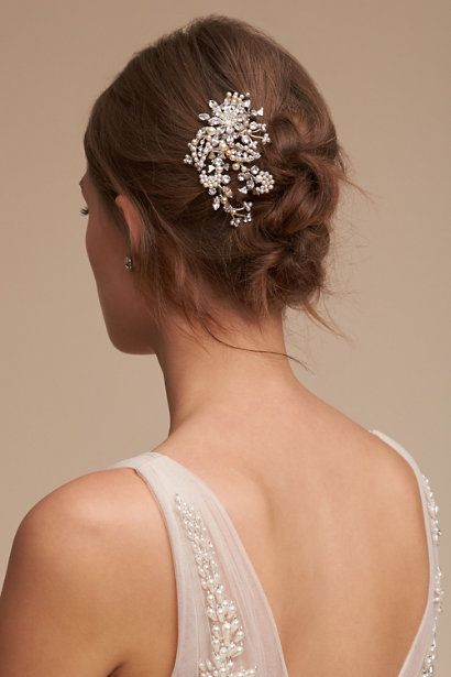 Silver Fontaine Comb | BHLDN