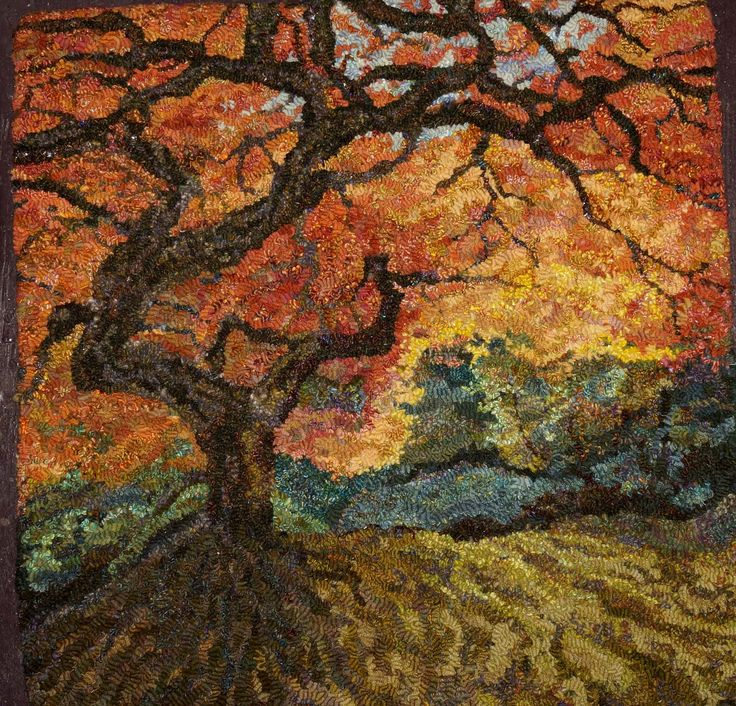 Green Mountain Rug Hooking Guild Gmrhg Fall Works