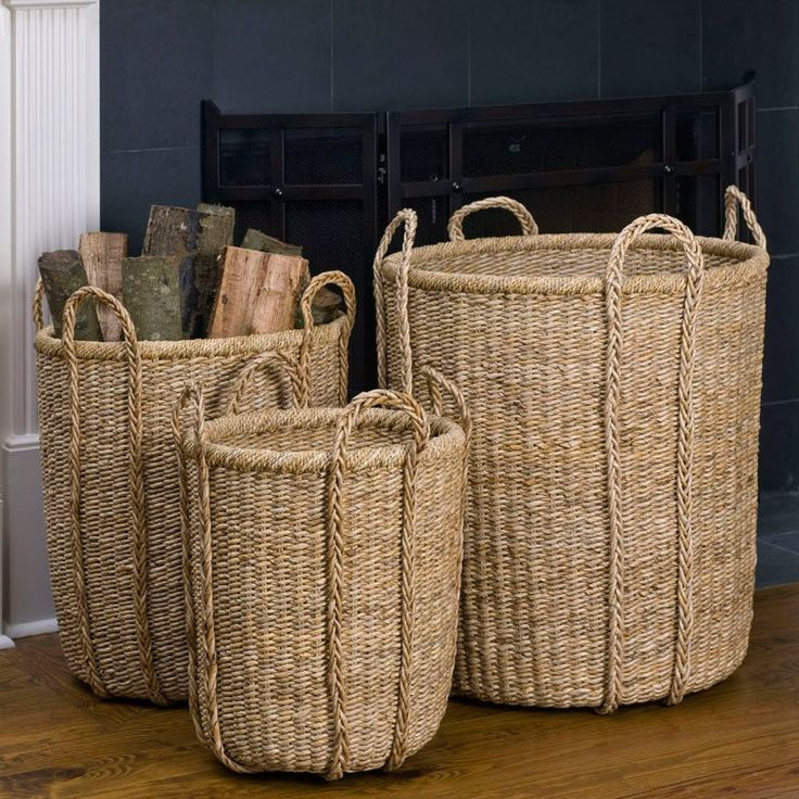 Nice Storage   Four Braided Handles For Easy Versatility In Woven Banana  Fiber. (find Design Inspirations