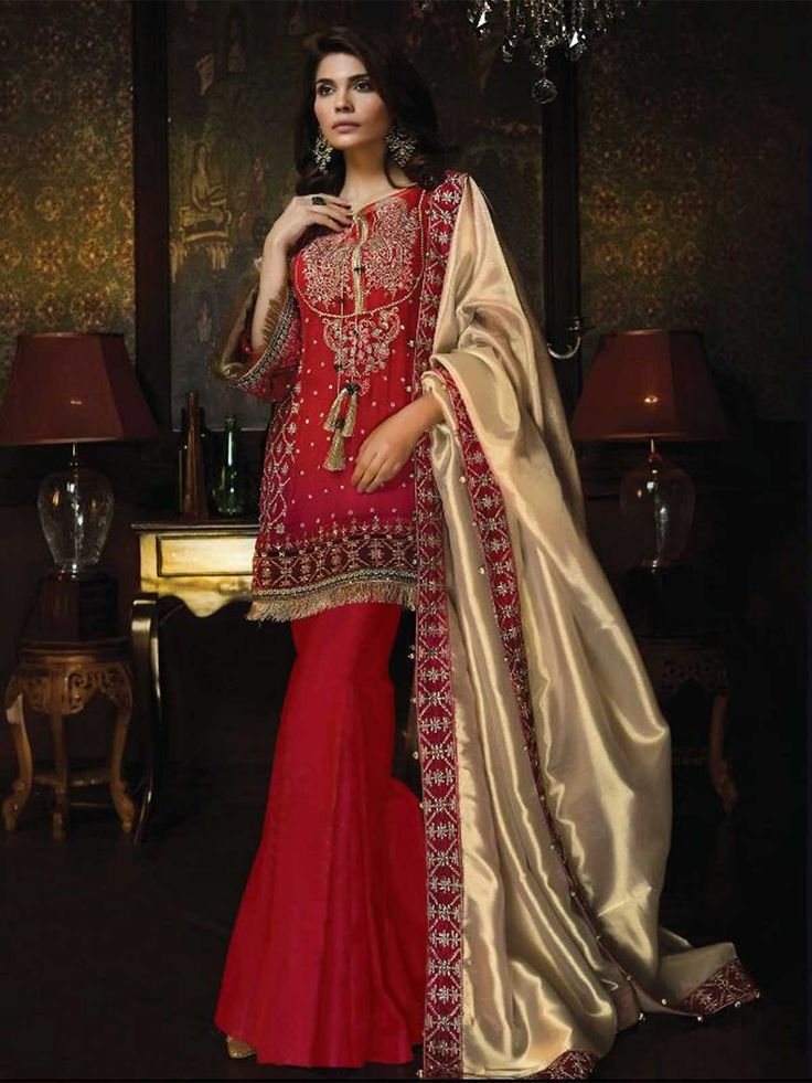Buy online red color designer pakistani salwar kameez for wedding season at reasonable price. Look impressive on all occasions by wearing this elegant designer salwar kameez online at ZaraaFab.  #redsalwarkameez #designerpakistanisuit #salwarkameezuk #pakistanishalwar #designersalwarsuit #partyweardress #pakistanifashion #onlineshopping #asianwear #pakistaniwear #trouser #weddingdress #pakistanistyle  #ladieswear #womenswear