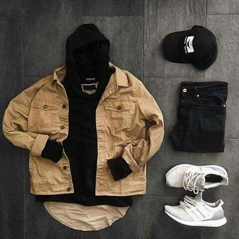 New Sneakers Fashion Men Streetwear Outfit Grid Ideas #outfitgrid New Sneakers F…