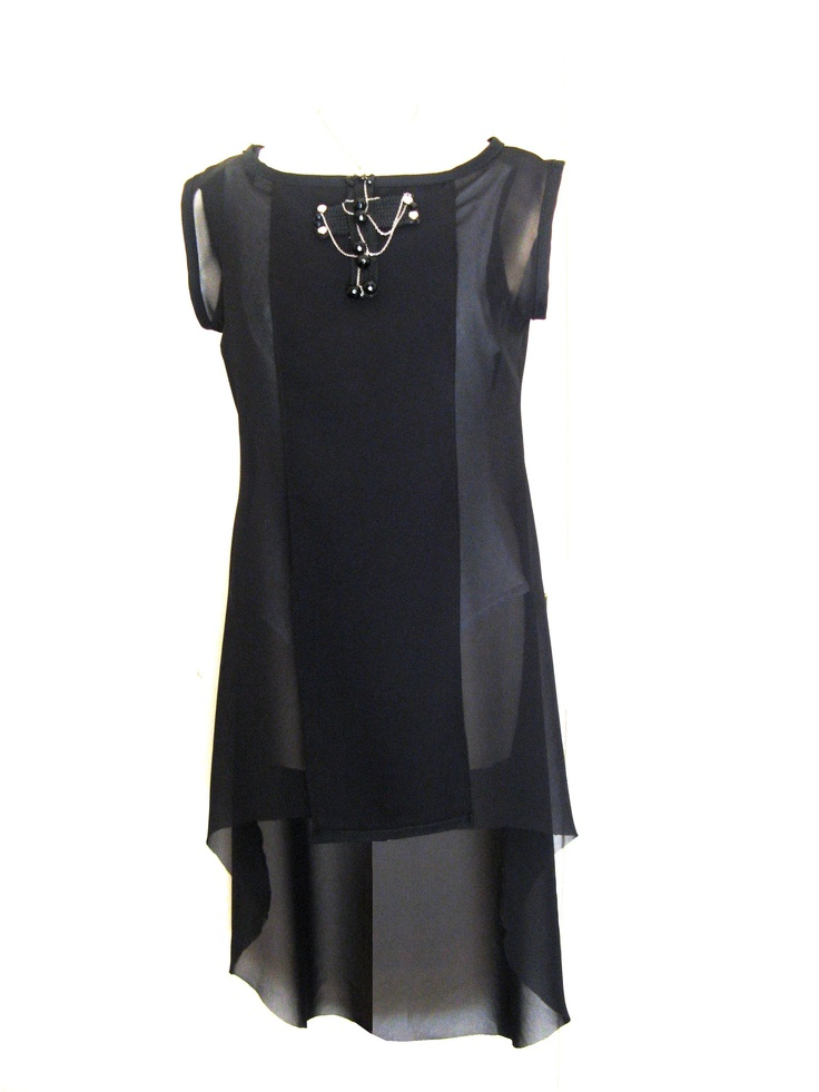 seethrough asymmetric black dress & black agressive cross