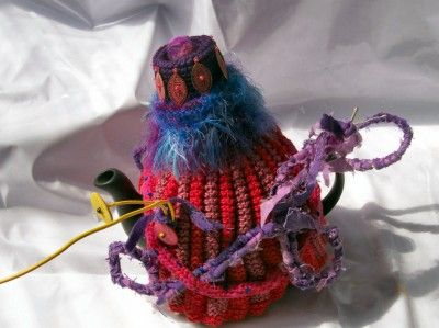 Crochet Tea Cozies ~ Exotic and Common Combined in Crochet Artist Karin Kempfs Creations