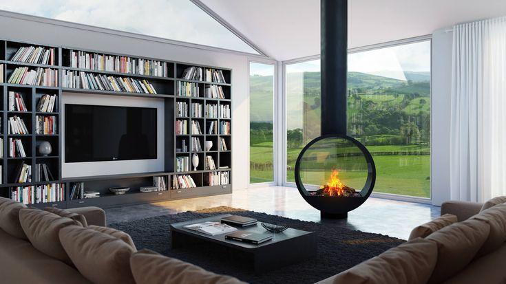 Cheminée au bioéthanol / à gaz / à bois / contemporaine 997 Modus Fireplaces