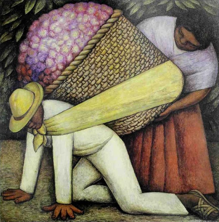 Diego Rivera - The Flower Carrier | San francisco museum of modern art the painting and sculpture collection