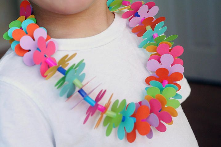 I've seen children hand out leis to guests at beach weddings.