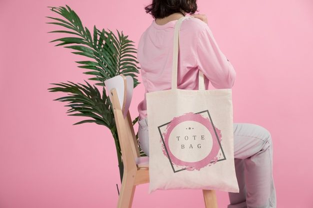 Download Woman With Tote Bag Free Psd Freepik Freepsd Design Texture Woman Horizontal Tote Bag Bags Tote