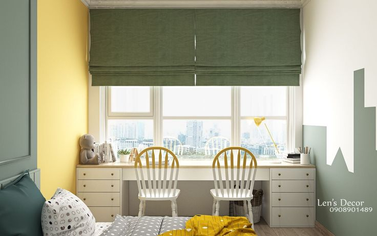 Yellow Kids' Rooms: How To Use & Combine Bright Decor