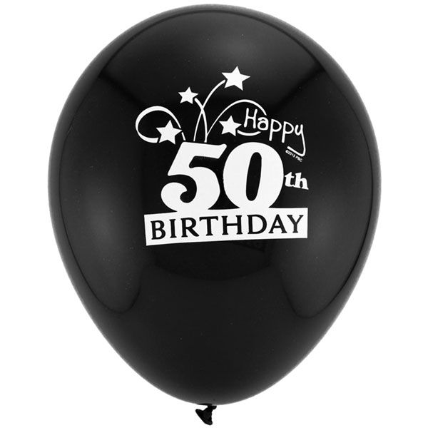 50th Birthday Balloons, Birthday