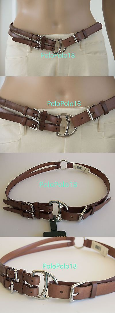 Belts 3003: New Ralph Lauren Women Equestrian Tri-Strap Leather Belt Brown S M -> BUY IT NOW ONLY: $42.49 on eBay!