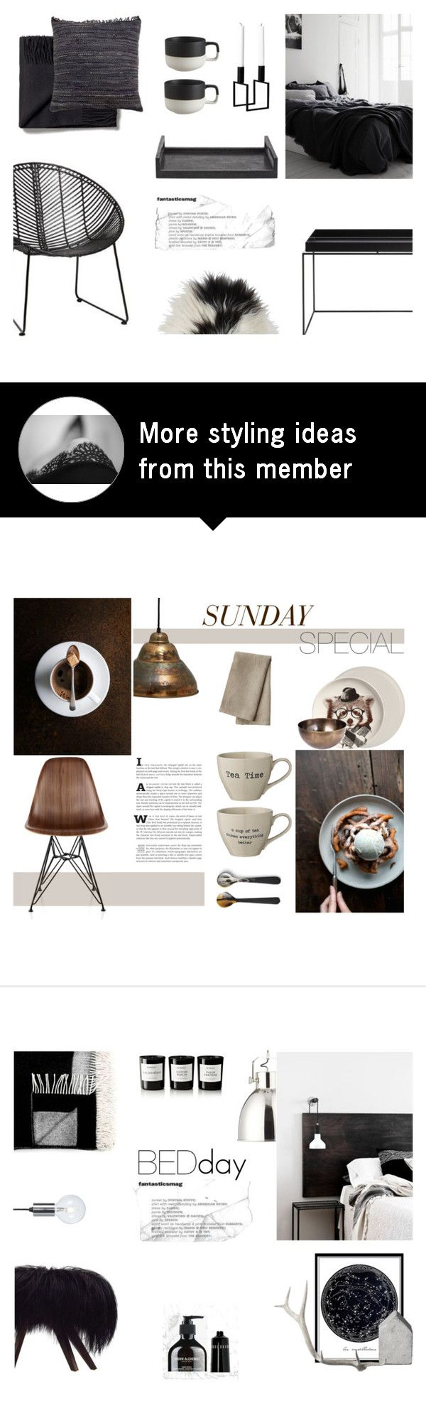"""""""Scandinavian Black"""" by nmkratz on Polyvore featuring interior, interiors, interior design, home, home decor, interior decorating, CB2, Ginger Brown, By Lassen and Toast"""