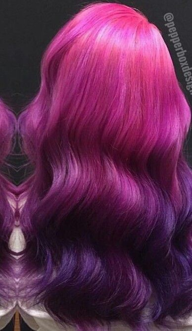 Pink purple ombre dyed hair color