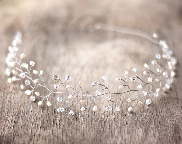 Wedding+headpiece+Silver+tiara+Crystals+tiara+Bridal+by+ArsiArt,+$43.00