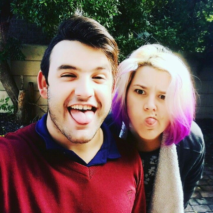 When you and your brother are both lit af #brotherandsister #crazyhair #instacraycray @carel.renaldo