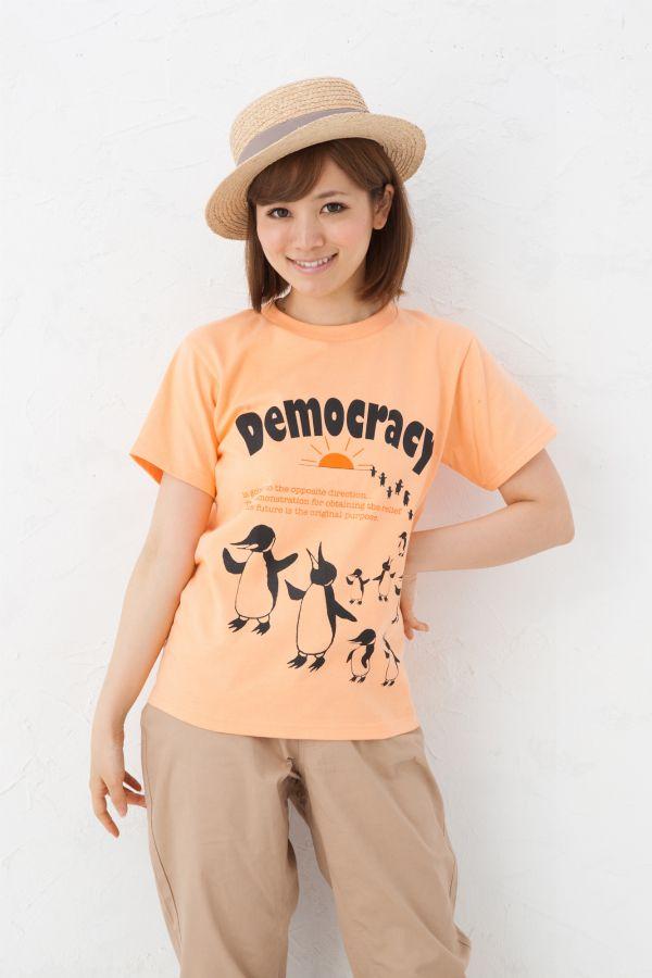【楽天市場】デモクラシー Tシャツ!/全3色【楽ギフ_包装】【auktn】【RCP】 10P01Mar15:GRACIOUS GROUND
