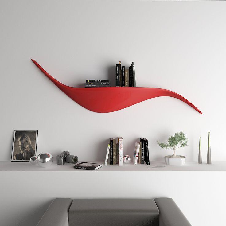 Shelfy la mensola un mobile in grado di donare eleganza ad ogni tipo di parete la sinuosit - Mensole da parete design ...